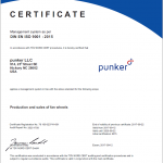 Preview ISO 9001:2015 certificate punker LLC